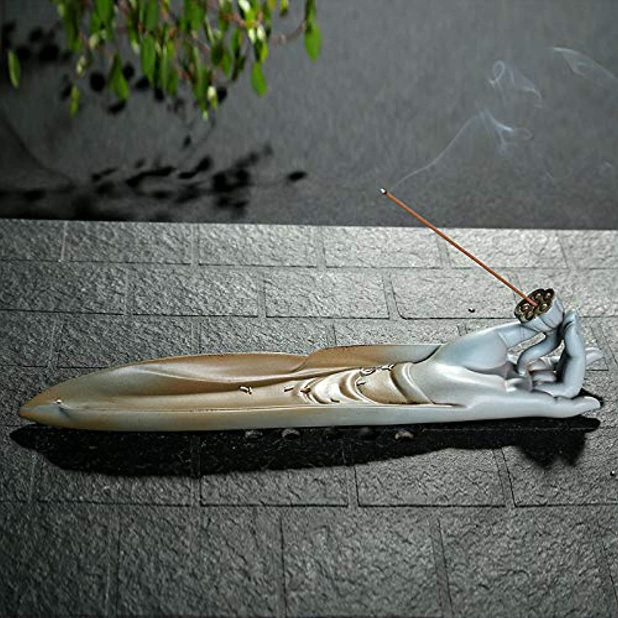 PHILOGOD 陶器線香 香立て 手作りベルガモットモデリング香炉 香皿 お香 ホルダー