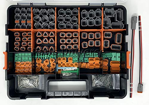 DEUTSCH 518 PCS DT CONNECTOR KIT GRAY 14-16AWG SOLID CONTACTS & PIGTAIL KIT (MADE IN USA)
