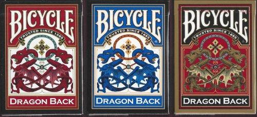 BICYCLE(バイスクル) DRAGON BACK(ドラゴンバック) トランプ 赤/青/ゴールド 3デックシュリンクパック