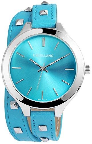 Excellanc Reloj para mujer con correa de piel sintética.