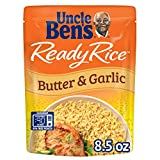 UNCLE BEN'S Ready Rice: Butter & Garlic Rice, Ready to Heat 8.8 Oz Pouches, Pack of 6