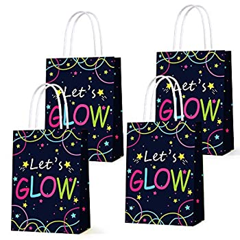 Glow in the Dark Gift Bags Creative Unique Party Favor Bags Treat Bags for Birthday Party Supplies 12pcs