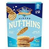 Blue Diamond Almonds Nut Thins Cracker Crisps, Hint of Sea Salt, 4.25 Ounce (Pack of 12- Total 51 Ounce)