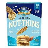 Blue Diamond Almond Nut Thins Cracker Snacks, Hint of Sea Salt