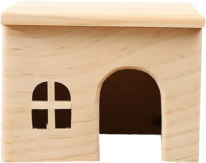 TEHAUX Hamster Hideout- Creative Wooden N Moveable Hut Playhouse shopping Challenge the lowest price