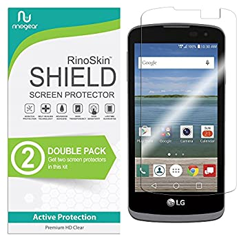 2-Pack  RinoGear Screen Protector for LG K4 LTE/LG Optimus Zone 3 / LG Spree Case Friendly LG K4 LTE/LG Optimus Zone 3 / LG Spree Screen Protector Accessory Full Coverage Clear Film