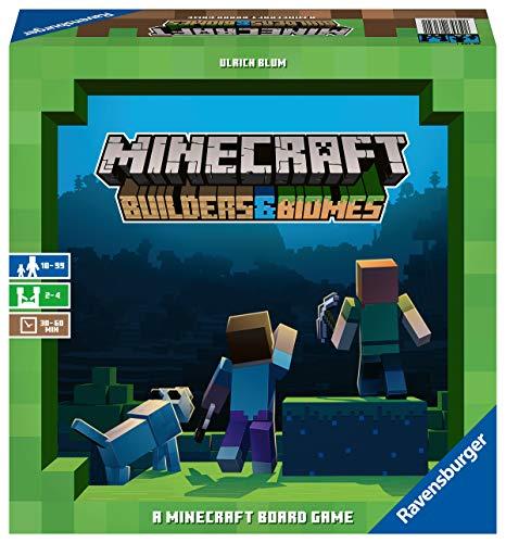 Ravensburger Minecraft Builders & Biomes Gioco da Tavolo, per 2-4 Giocatori, Età Consigliata 10+, Multicolore