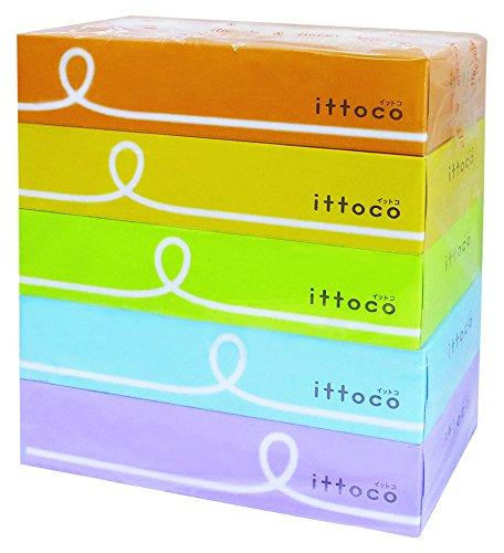 イトマン イットコ ティシュ 150組×5箱