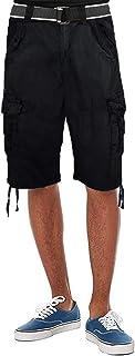 Fried-Denim Mens Everyday Poplin Belted Cargo Fairfax Shorts