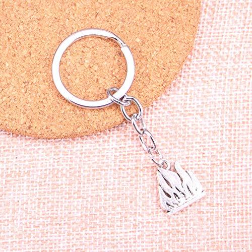 YCEOT Vlammen Vuur Charm Hanger Sleutelhanger Sleutelhanger Ring Ketting Accessoires Sieraden Maken Voor Geschenken