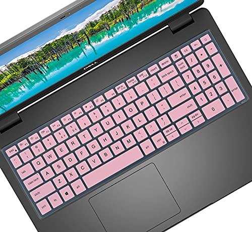 Tastaturabdeckung für Dell Inspiron 15 3000 3501 3502 3505 3593, Inspiron 15 5501 5502 5505 5508 5509 5584 5590 5593 5594 5598, Latitude 3500 3510 Laptop – Pink