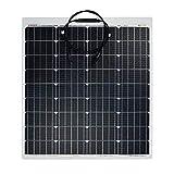 enjoysolar ETFE Semiflexibles Solarmodul PERC Zellen Solarpanel Marine Wohnmobil Yacht Boot (80W)