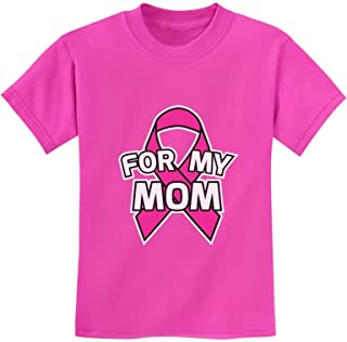 Breast Cancer Awareness - Pink Ribbon for My Mom Youth Kids T-Shirt