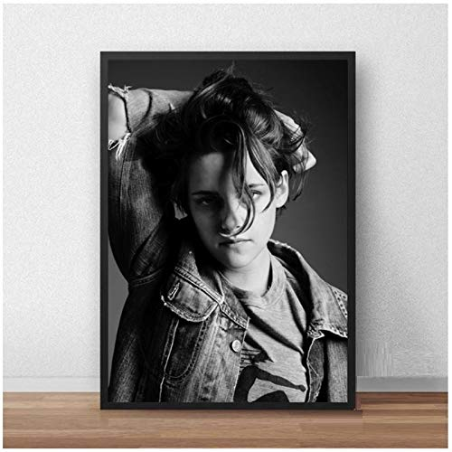 wzgsffs Kristen Stewart Poster And Prints Wall Art Print On Canvas For Living Room Home Bedroom Decorative Cafe Bar-20X28 Inchx1 Frameless