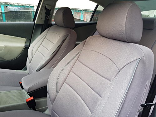 seatcovers by k-maniac Sitzbezüge für Polo 6C Universal grau Autositzbezüge Sitzschoner Set Vordersitze Autozubehör Innenraum V836257