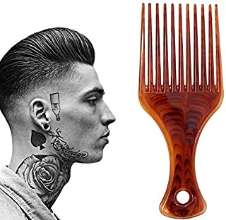 Lightweight Afro Comb,Amber Afro Pick Hair Comb,Plastic Hair Brushes for Man & Woman Hairdressing Styling [並行輸入品]