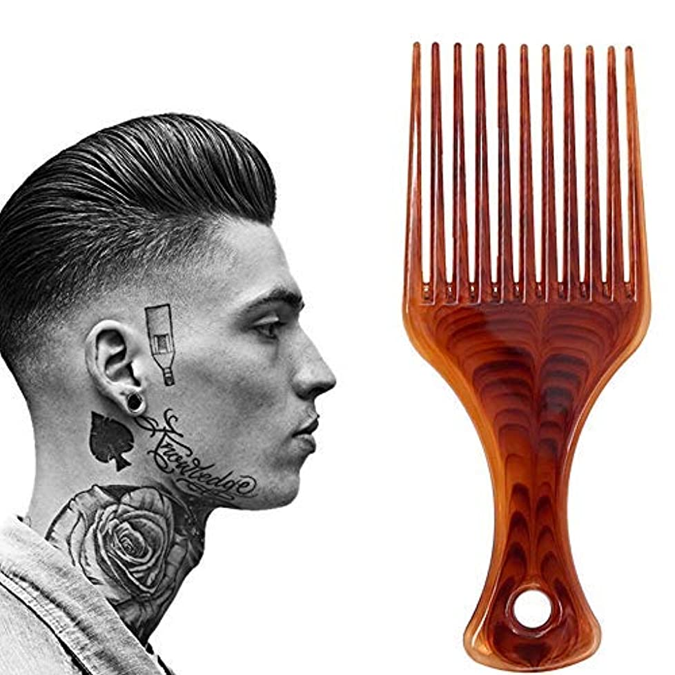 平方オプショナル波Lightweight Afro Comb,Amber Afro Pick Hair Comb,Plastic Hair Brushes for Man & Woman Hairdressing Styling [並行輸入品]