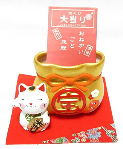 招き猫宝くじ入れ 018-0226