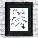 The Vikings Autographed Signed Reprint 8.5x11 Script 13x15 Framed Katheryn Winnick, Travis Fimmel, Gustaf Skarsgard, Alexander Lugwig, Clive Standen