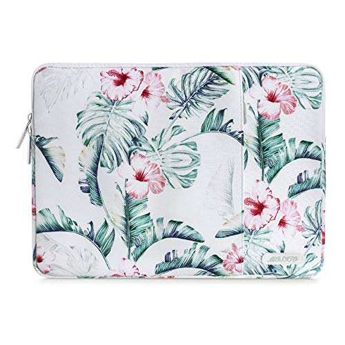 MOSISO Laptop Sleeve Case Compatible with 13-13.3 inch MacBook Pro, MacBook Air, Notebook Computer, Polyester Vertical Banana Leaf Bag with Pocket