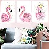 3pcs Canvas Print Wall Décor Art Elegant Pink...