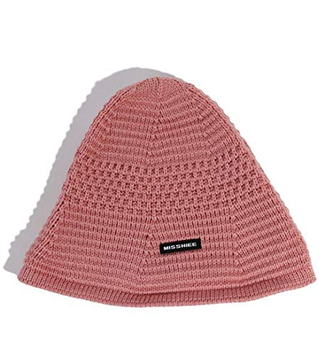 MYYLFF Bonnet Tricoté,Couleurs Solides Femmes Chaud Tricoté Bonnet Hat,Court Douce Laine Rose Élégant Décontracté Tout-Match Simple Mode Beanie Cap