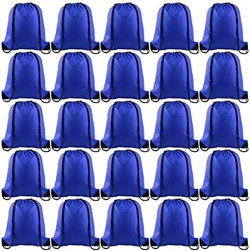 KUUQA 25Pcs Drawstring Backpack Bags String Backpack Sport Bag Sack Cinch Tote Gym Backpack product image