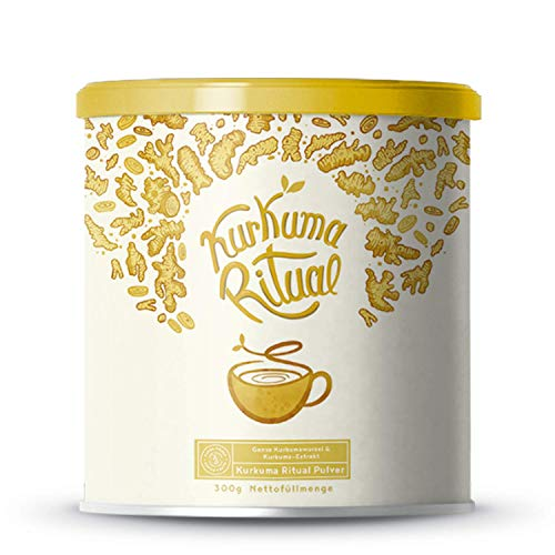 Kurkuma Ritual | Kurkuma Latte - Goldene Milch | Aus heiligem Kurkuma und konzentrierten Curcuminoiden | 300g Pulver