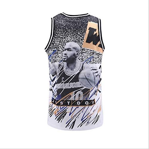 NBA Nuevo Uniformes de Baloncesto American Star Street Fashion Jerseys Custom Hombres Baloncesto Juego Capacitación Uniformes de Baloncesto (Color : B2, Size : XXL)