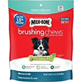 Milk-Bone Fresh Breath Brushing Chews, 38 Small/Medium Daily Dental Dog Treats