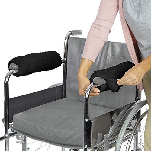 Vive - Coppia di copri braccioli per sedia a rotelle, in memory foam, per sedia da ufficio e da trasporto, accessori per braccioli imbottiti, per bambini, adulti