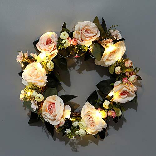 SYQS Rozet Kran, Decoratieve Deuren En Ramen Ornamenten, Kerst Huis Meubels, Simulatie Rotan Ring
