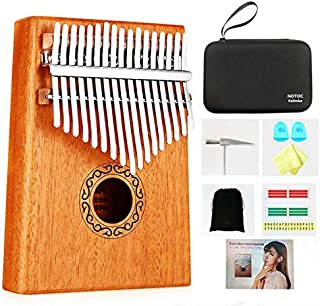 Portable kalimba 17 Keys Thumb Piano,Study Instruction and Tune Hammer,with EVA Waterproof Hard Protective Case Gift for Kids Adult Beginners Professional.