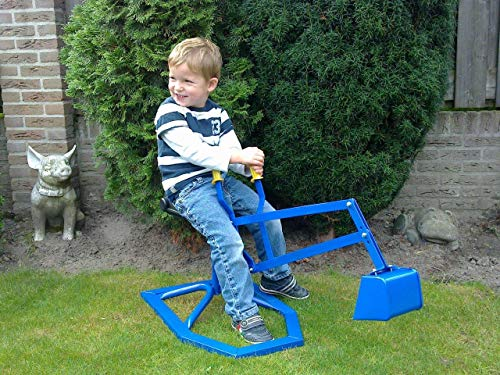 Graafmachine zandbak - zandbak kraan - kinder graafmachine - blauw