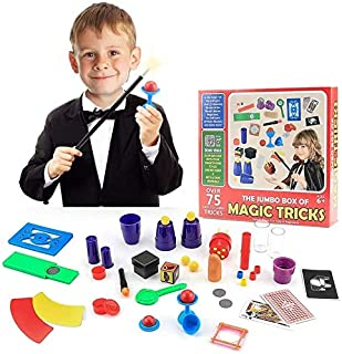 Magic Toys Kit Set with Wand and 75 Magic Tricks for Kids Boys Girls, Best Age 6 7 8 9 Years Old