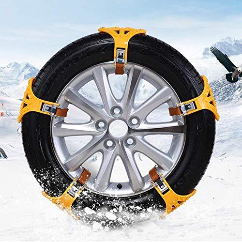 1pc Universal Car Notfall-Schneeketten, aufschnappbare Autoreifen-Schneeketten, Nägel aus Gummi + legiertem Stahl, geeignet für Autos, SUV