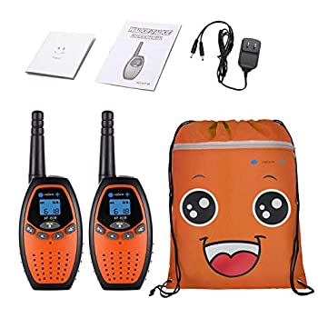 ONFAON Toys for Boys Kids Walkies Talkies Long Range Rechargeable Walky Talky with Automatic Battery Save,Range Up to 3 Miles for Camping,Hiking,Fishing,Outdoor Activities  Orange