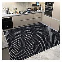 キッチンマット 家庭用キッチンのための石油と吸水のカーペットでいっぱいのキッチンのフロアマット スタンディングデスクマット (Color : A, Size : 120x160cm)