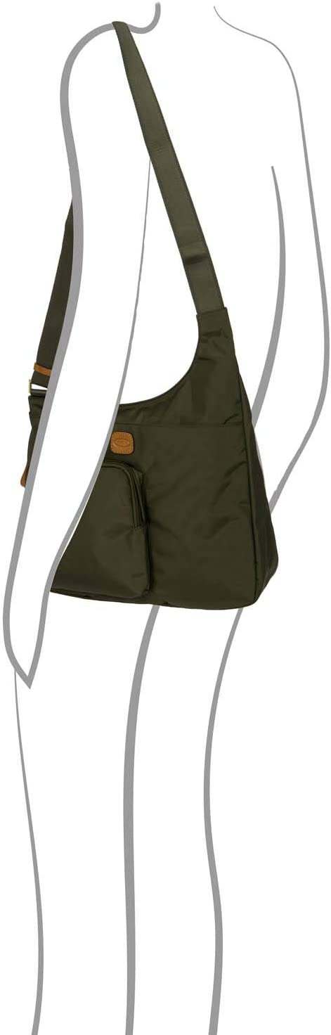 Bric's Women's x-Travel 2.0 Hipster Envelope Crossbody Bag, Olive, One Size