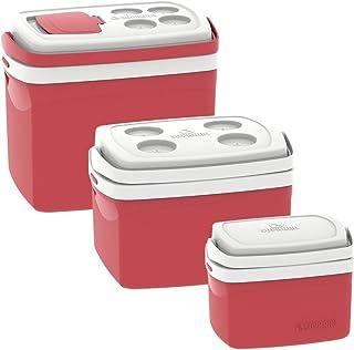 Combo Caixa Térmica Tropical 32L/12L/5L, Soprano, 0700, Vermelha, Grande