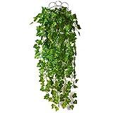 6PCS人工の緑の壁の装飾、屋外のシミュレーション植物の魅力プラスチック、ウェディングガーデンカフェのための壁の装飾を巻きひげ (Color : Creeper leaf, Size : 2pcs)