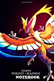 Notebook: Pokemon Pidgeot Blaziken Ii , Journal for Writing, College Ruled Size 6' x 9', 110 Pages