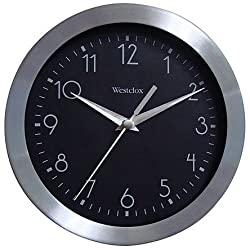 Westclox 10 Inch Metal Wall Clock
