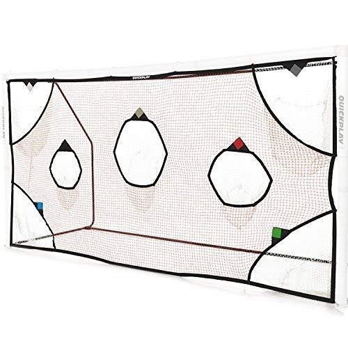 QUICKPLAY PRO Soccer Goal Target Nets with 7 Scoring Zones – Practice Shooting & Goal Shots. Soccer Goal Frame not Included. (iii) 16x7'