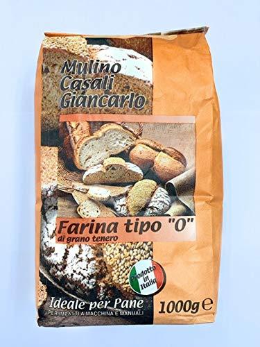 Farina Tipo '0' di Grano Tenero Italiano ideale per Pane - 1 kg - Molino Casali - 5 confezioni