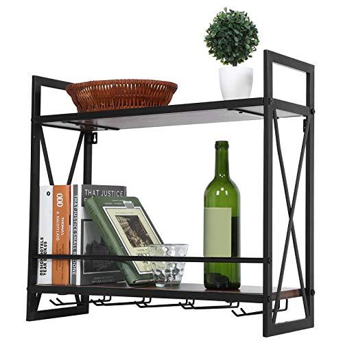 Cajón de vino de pared de 2 capas, para pared multifuncional, apto para uso doméstico, mostradores de bares, bistrots, aproximadamente 20 x 60 x 54 cm