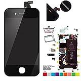 Trop Saint Ecran Noir pour iPhone 4S - Kit de Réparation avec Tapis de Repérage Magnétique et Outils