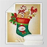 KLily Mantas De La Serie De Navidad Patrón De Papá Noel Tapiz para El Hogar Manta para Dormir Sofá Aire Acondicionado La Manta para Las Piernas Se Puede Lavar