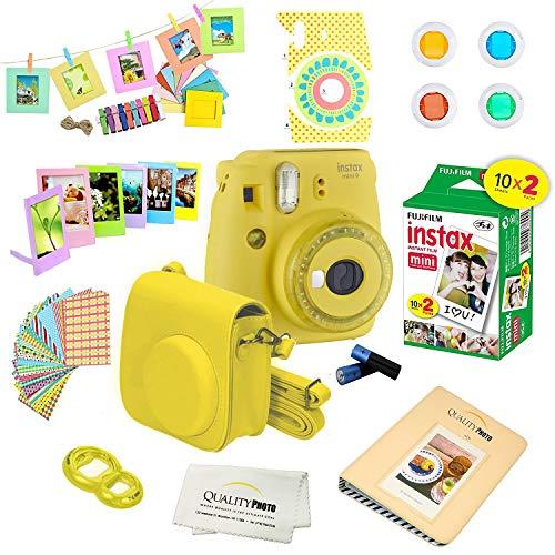 Fujifilm Instax Mini 9 Camera + Fuji INSTAX Instant Film (20 Sheets) + 14 PC...