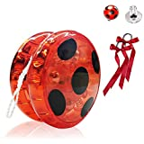 Hook Yoyo Miraculous Ladybug, Costume Ladybug Deguisement Enfant, Flash LED Light Up...